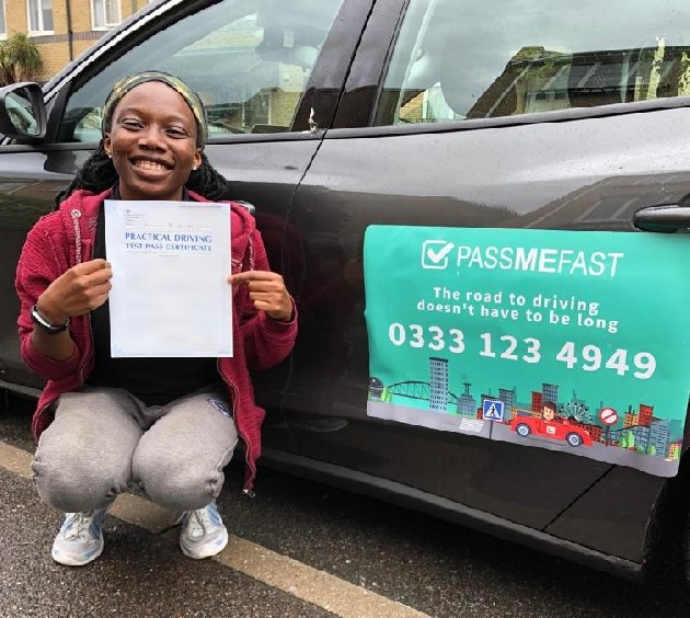 Pass photo of PassMeFast student Tolulope - Greater London