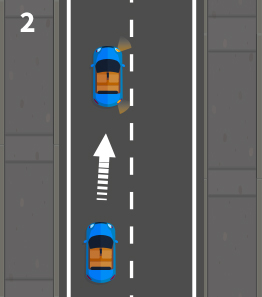 pulling up on the right and correct road positioning