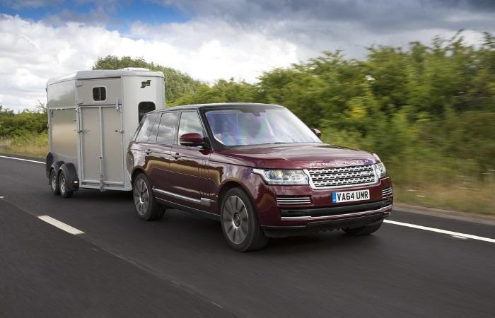 Range Rover towing a trailer