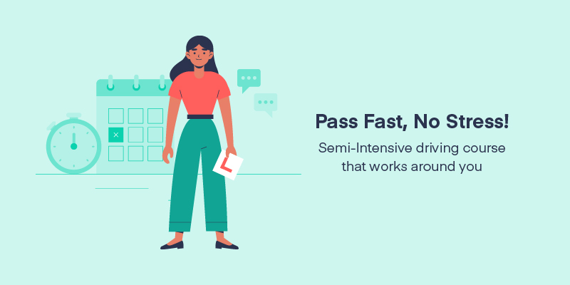 Illustration for passing fast with semi-intensiive driving courses