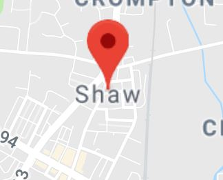 Cropped Google Map with pin over Shaw