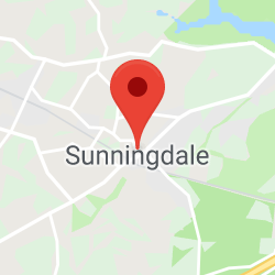 Cropped Google Map with pin over Sunningdale
