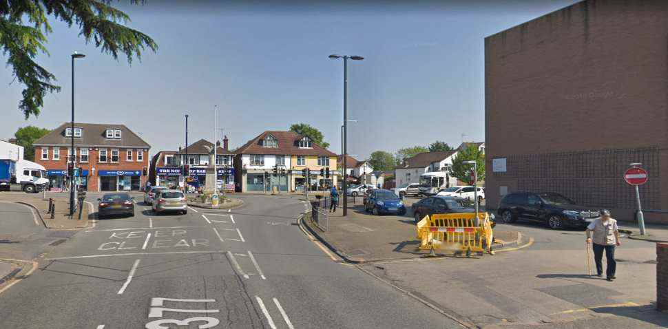 Ashford (London Middlesex) Google Streetview Image Junction