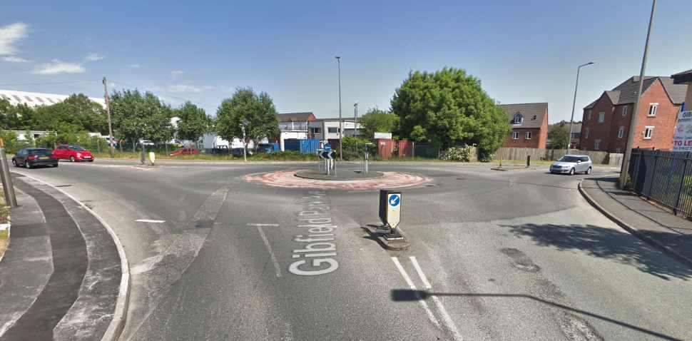 Atherton Google Streetview Image Roundabout
