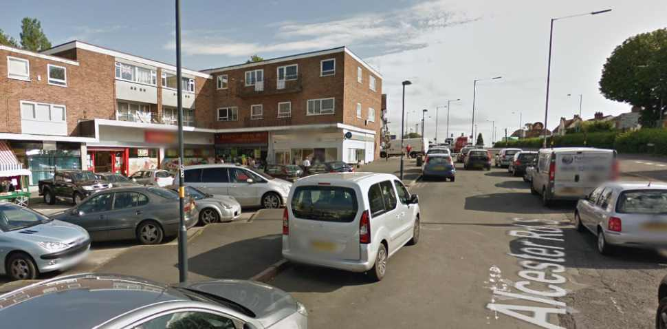 Birmingham (Kings Heath) Google Streetview Image Leading Road