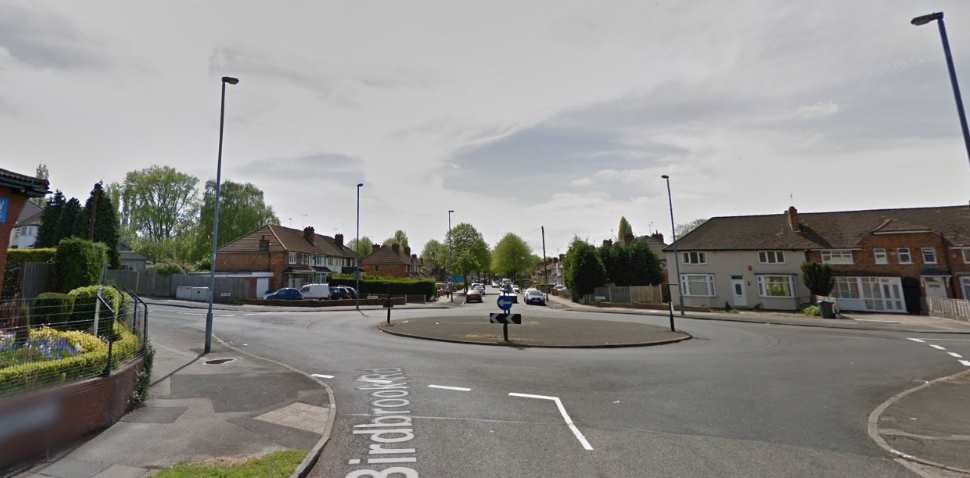 Birmingham (Kingstanding) Google Streetview Image Roundabout
