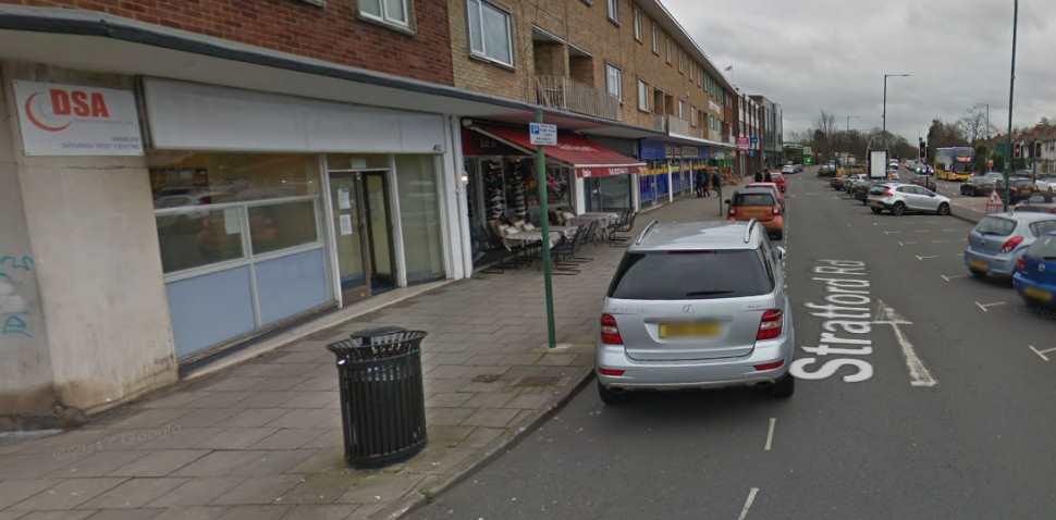 Birmingham (Shirley) Google Streetview Image Leading Road