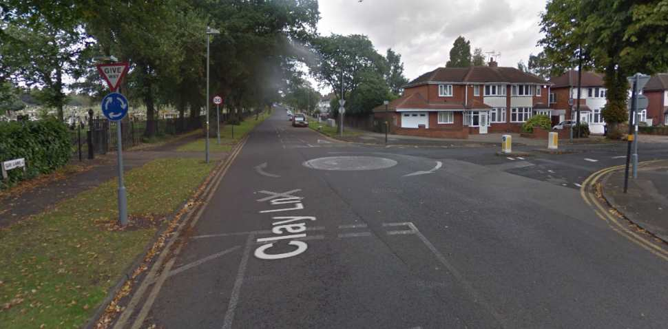 Birmingham (South Yardley) Google Streetview Image Roundabout