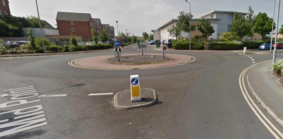Bradford (Thornbury) Google Streetview Image Roundabout