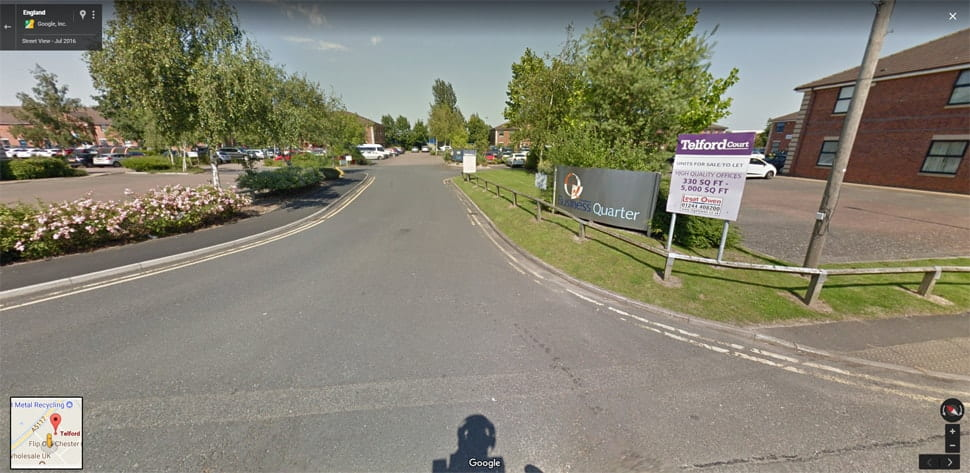 Streetview Image for chester Test Centre