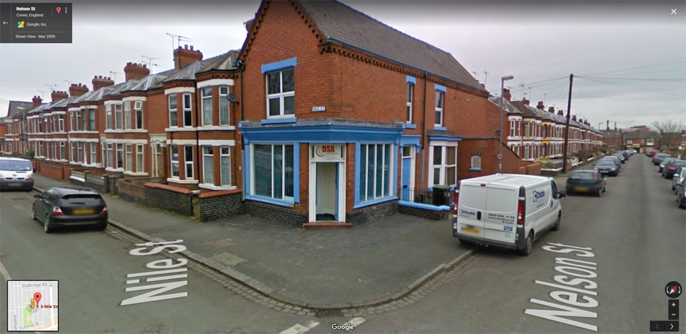 Streetview Image for crewe Test Centre