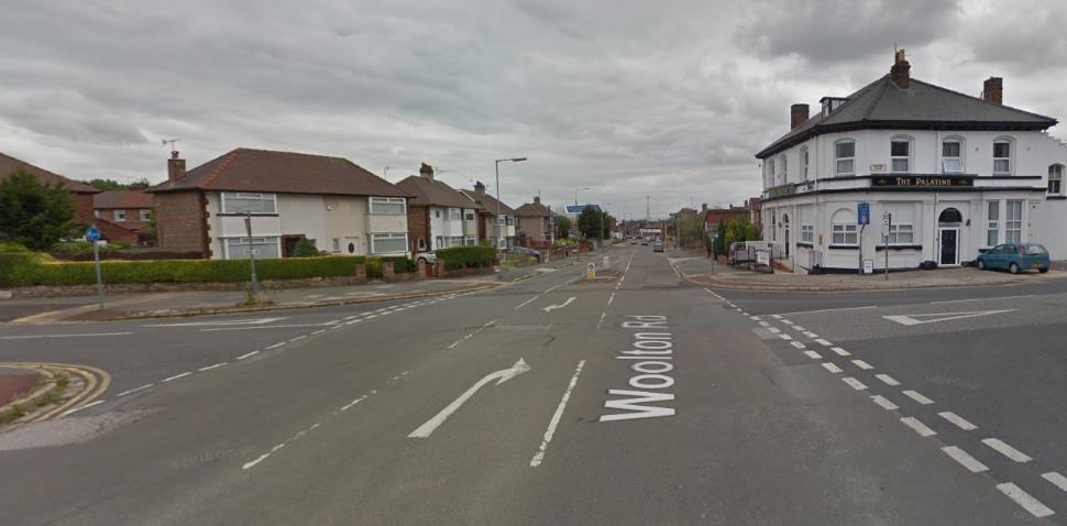 Garston (Liverpool) Google Streetview Image Crossroads