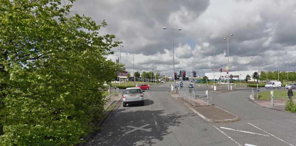 Garston (Speke) Google Streetview Image Traffic Lights