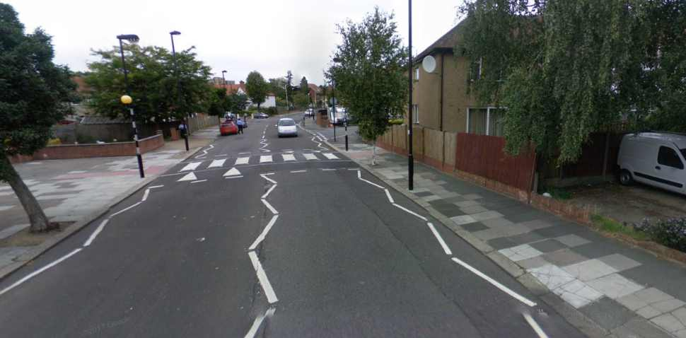 Greenford Google Streetview Image Zebra Crossing