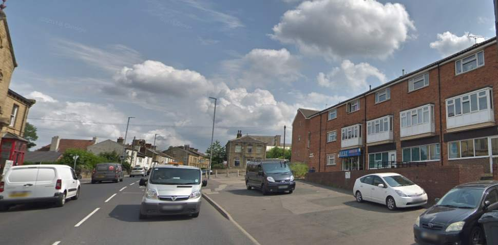 Heckmondwike Google Streetview Image Leading Road