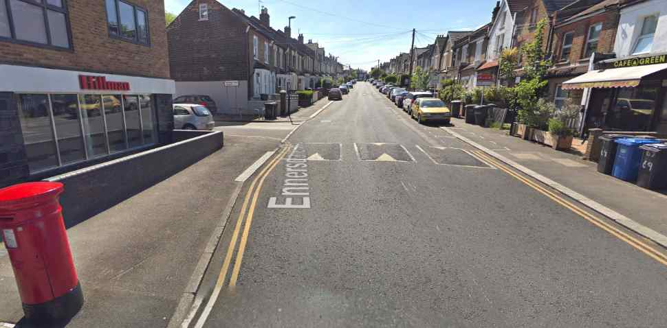 Hither Green Google Streetview Image Speed Bumps