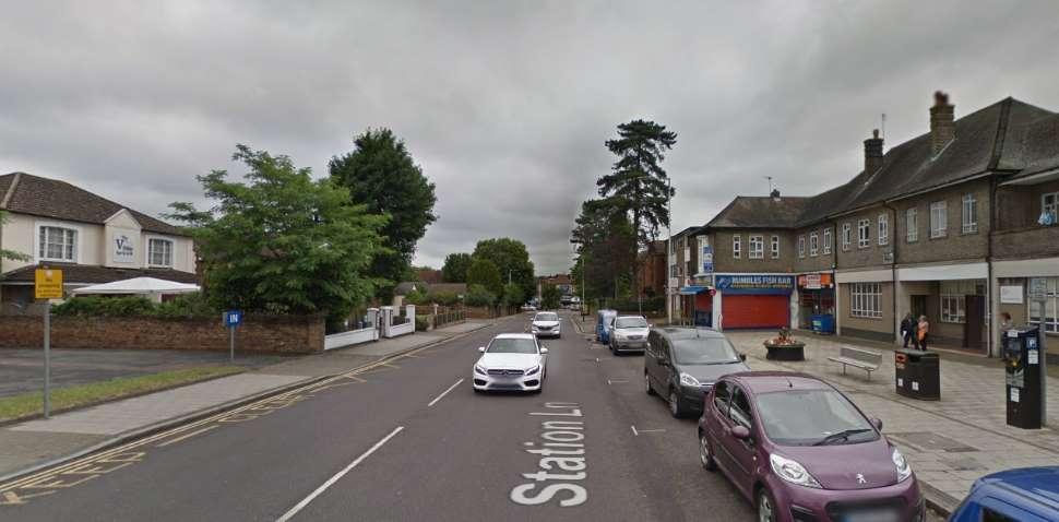 Hornchurch Google Streetview Image Station Lane