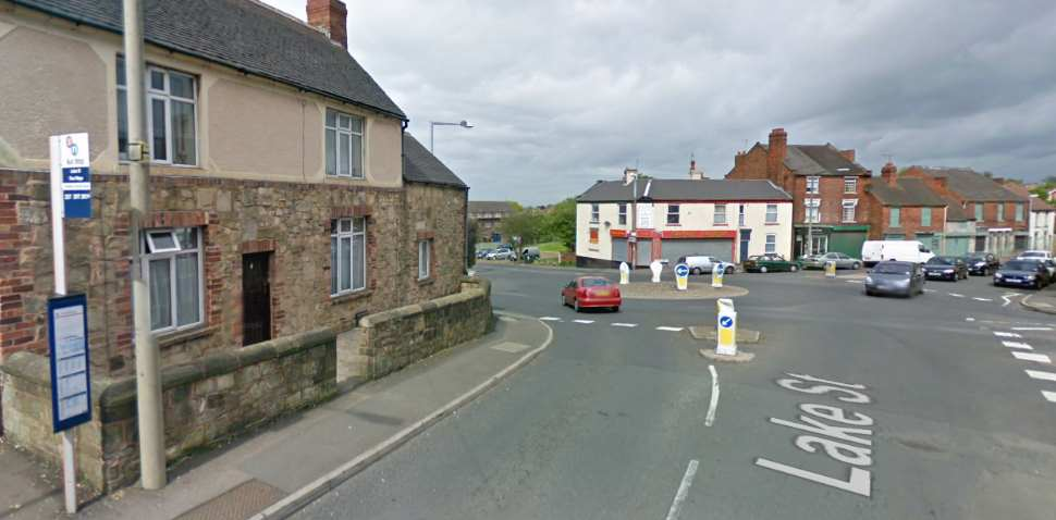 Lower Gornal Google Streetview Image Roundabout