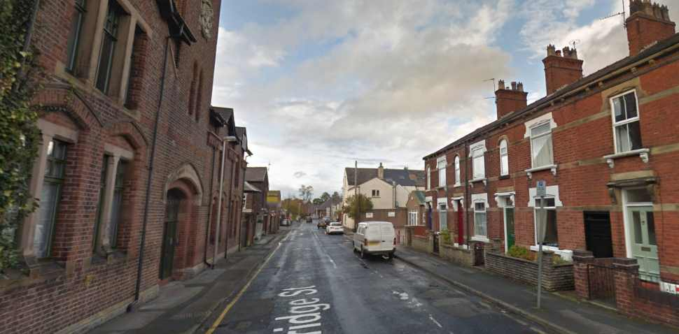 Macclesfield Google Streetview Image Leading Road
