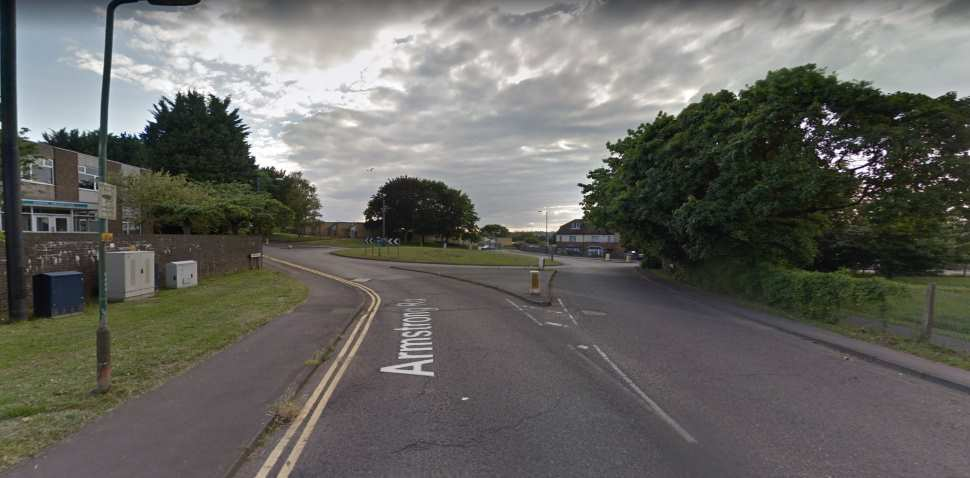 Maidstone Google Streetview Image Armstrong Road Roundabout