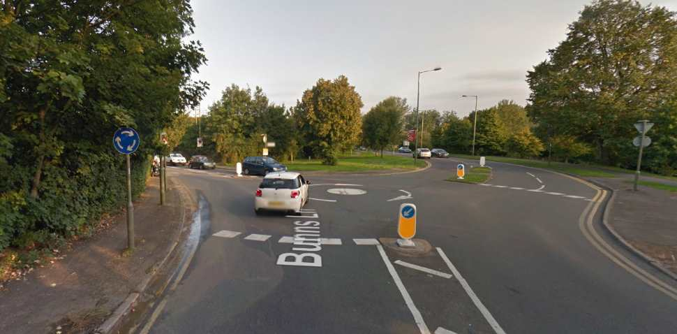 Mill Hill Google Streetview Image Roundabout
