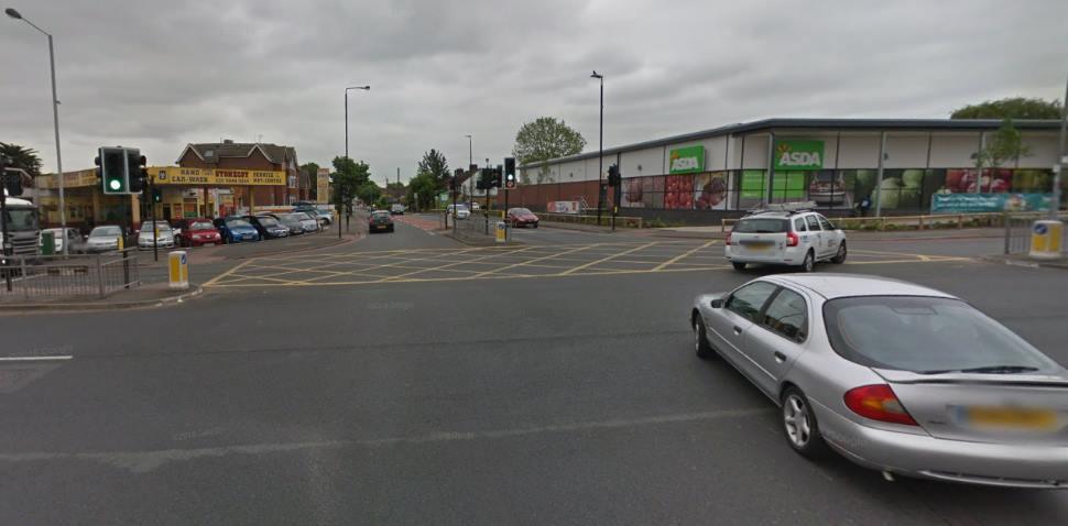 Morden Google Streetview Image Crossroads