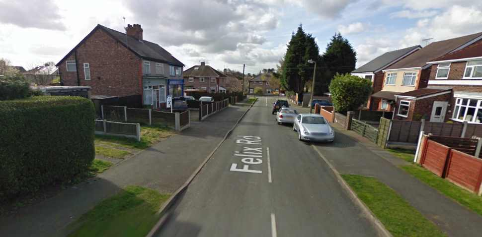 Northwich Google Streetview Image Leading Road