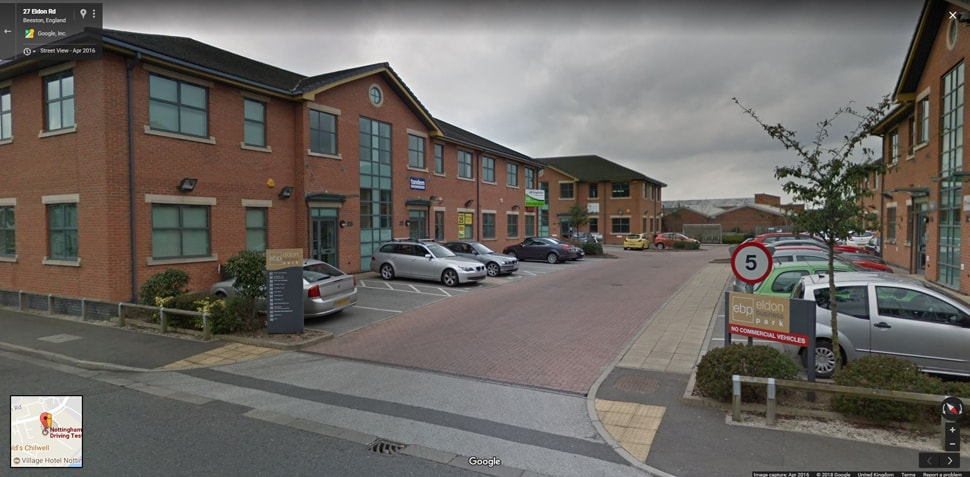 Streetview Image for Nottingham (Chilwell) Test Centre