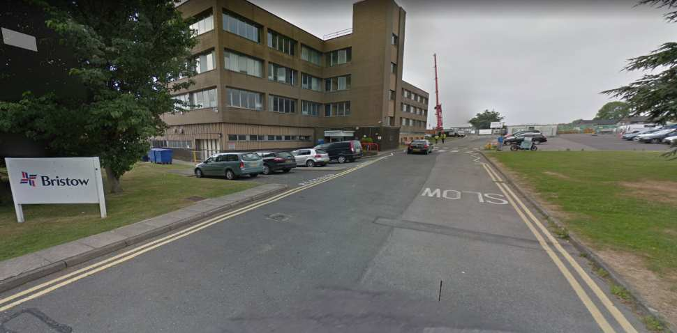 Redhill Aerodrome Google Streetview Image Approach