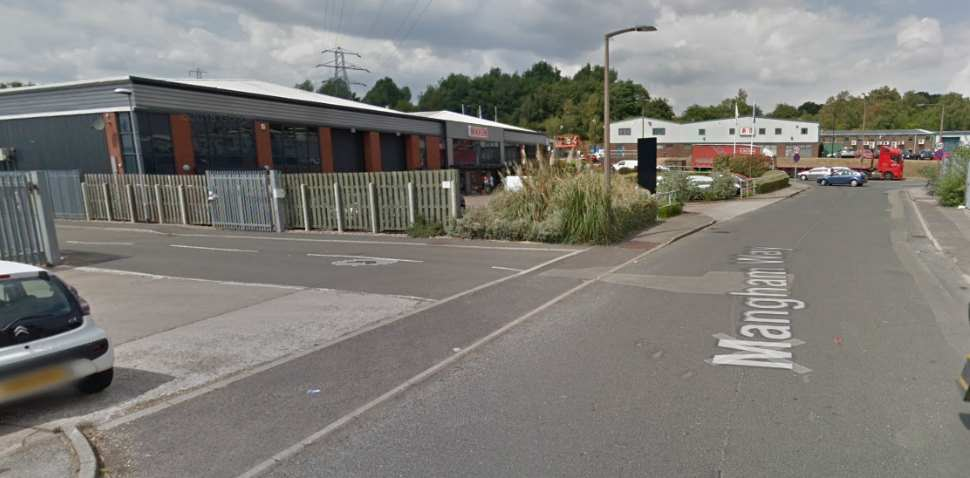 Rotherham Google Streetview Image Leading Road