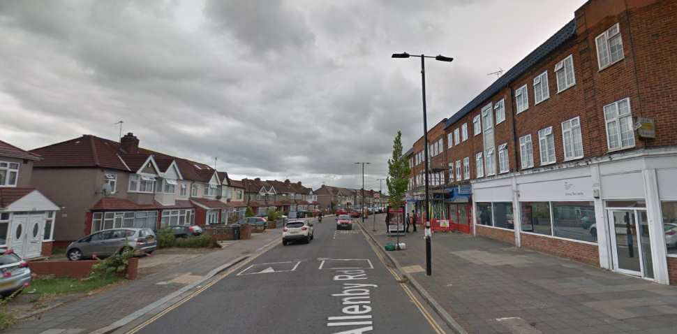 Southall Google Streetview Image Allenby Road