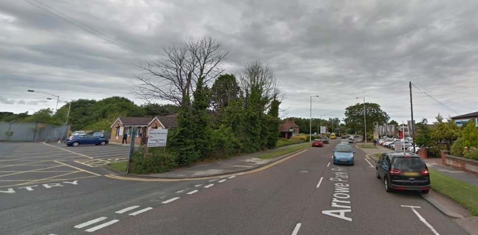 Upton Google Streetview Image Leading Road