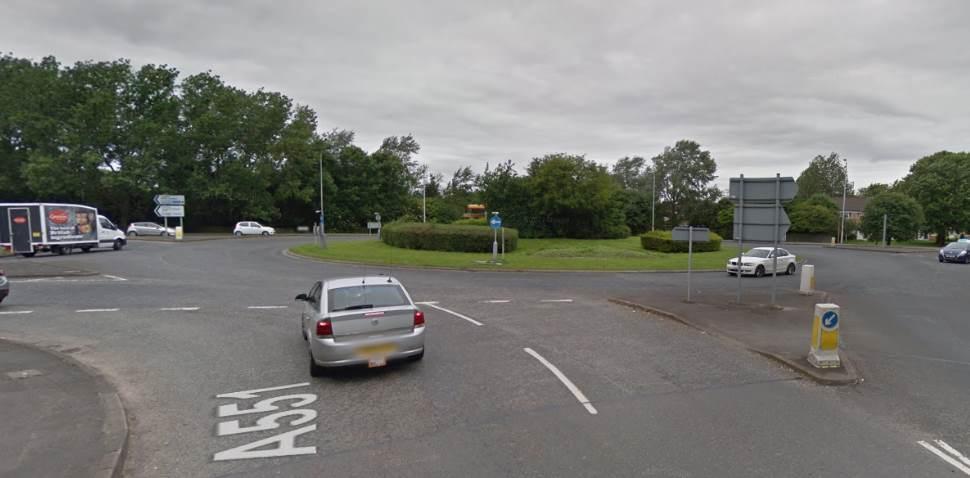 Upton Google Streetview Image Roundabout