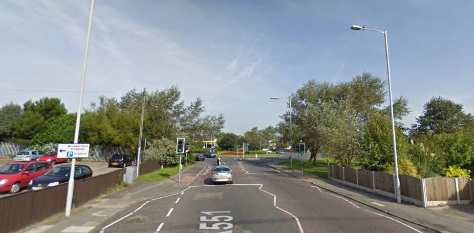 Upton Google Streetview Image Traffic Lights