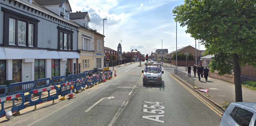 Wallasey Google Streetview Image Traffic Lights