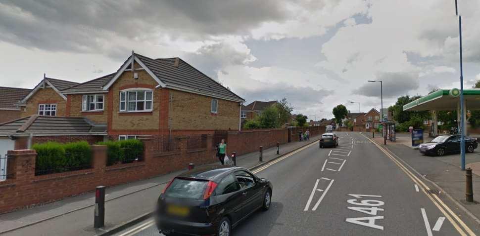 Wednesbury Google Streetview Image A461