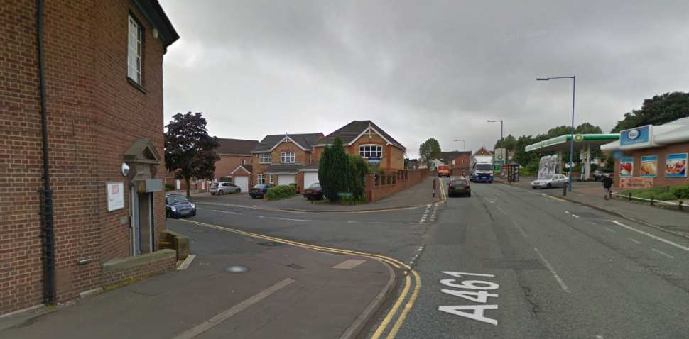 Wednesbury Google Streetview Image Leading Road