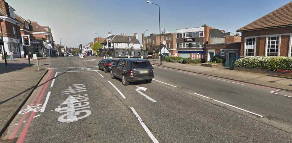 West Wickham Google Streetview Image Traffic Lights