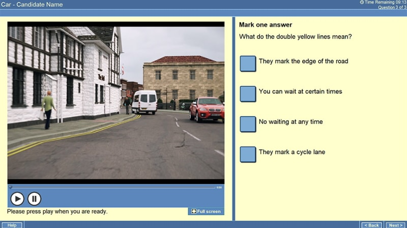 Example of a theory test case study question