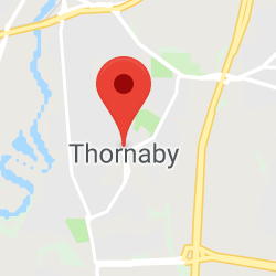 Cropped Google Map with pin over Thornaby