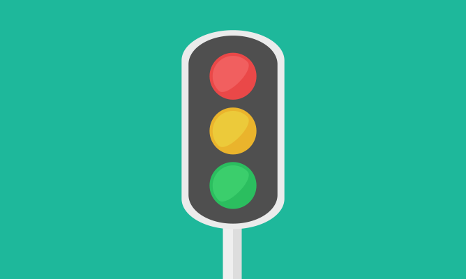 An illustration of a traffic light.