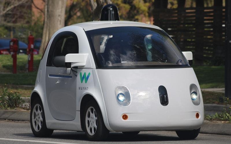 Waymo self-driving car.