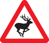 Wild animals warning sign